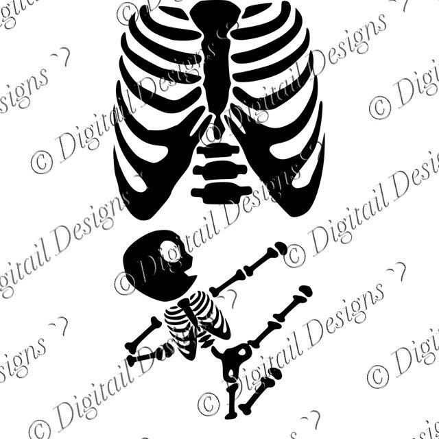 Karate Baby Skeleton SVG.