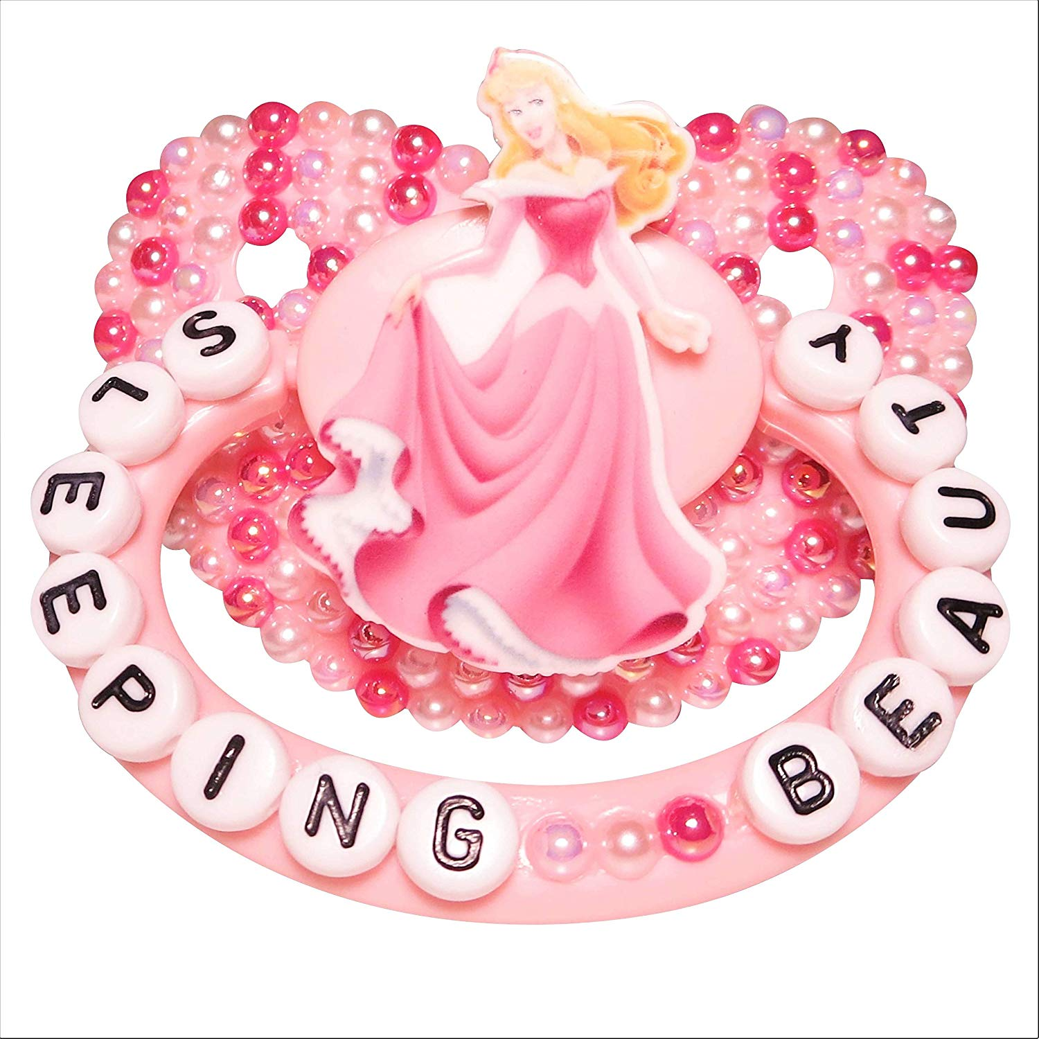 Amazon.com : Sleeping Beauty Pink Adult Pacifier, Pink and.