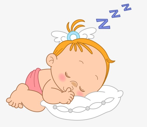 Baby Sleep, Baby Clipart, Sleep Clipart, Child PNG Transparent Image.