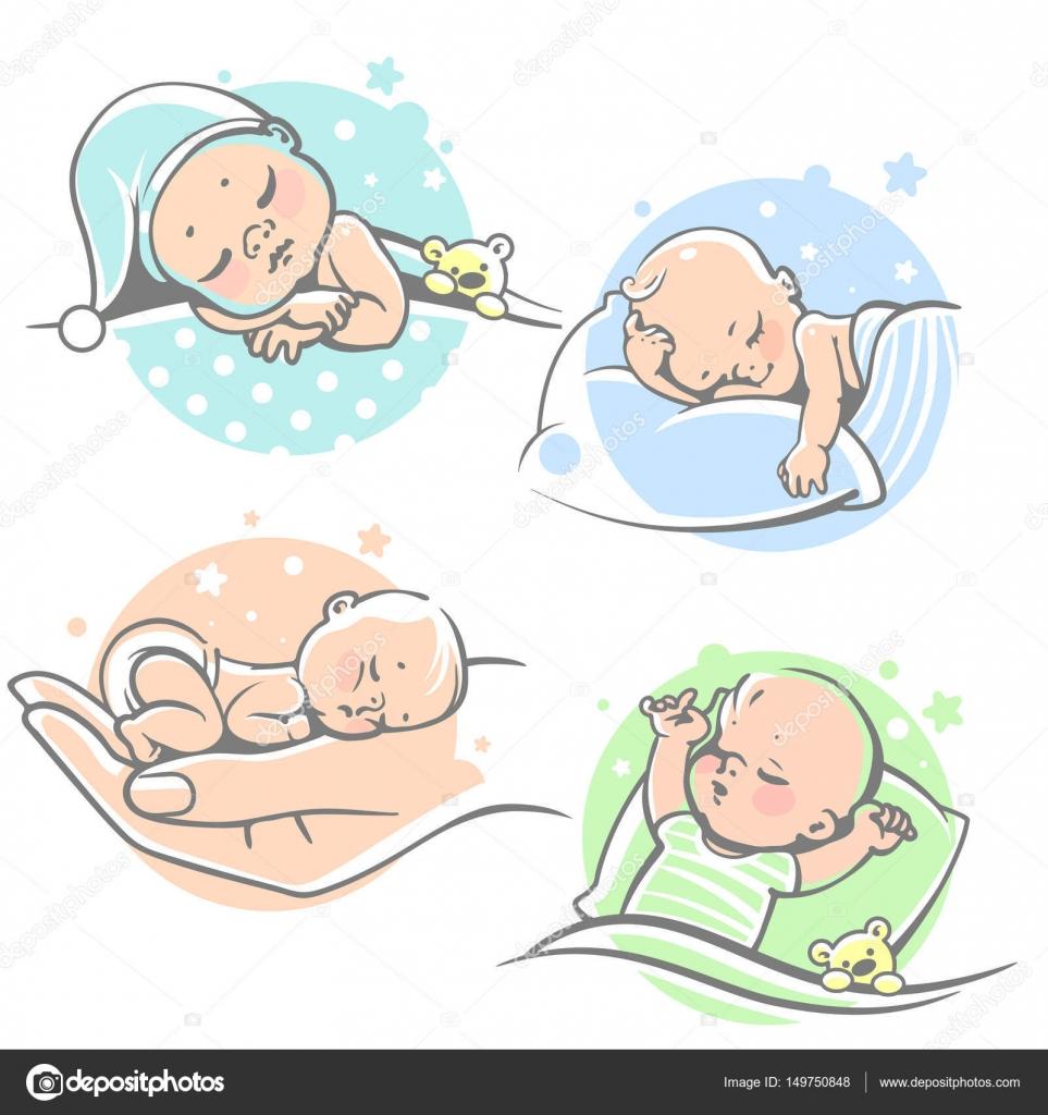 Clip art babies sleeping.
