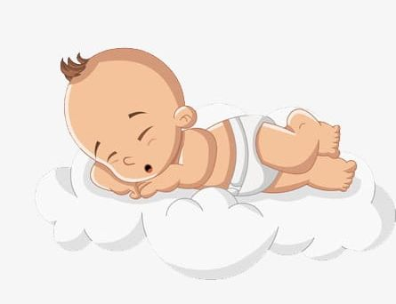 Baby Sleeping On The Clouds PNG, Clipart, Baby, Baby Clipart, Bed.