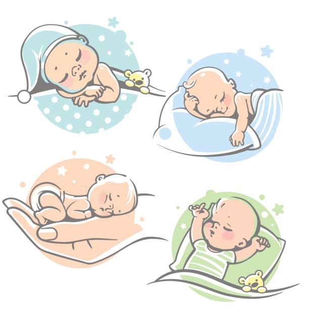 Best Baby Sleeping Illustrations, Royalty.