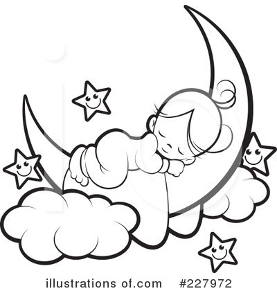 Baby Sleeping Clipart Black And White.