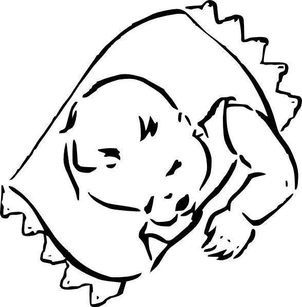 Sleeping Baby clip art Free vector in Open office drawing svg.
