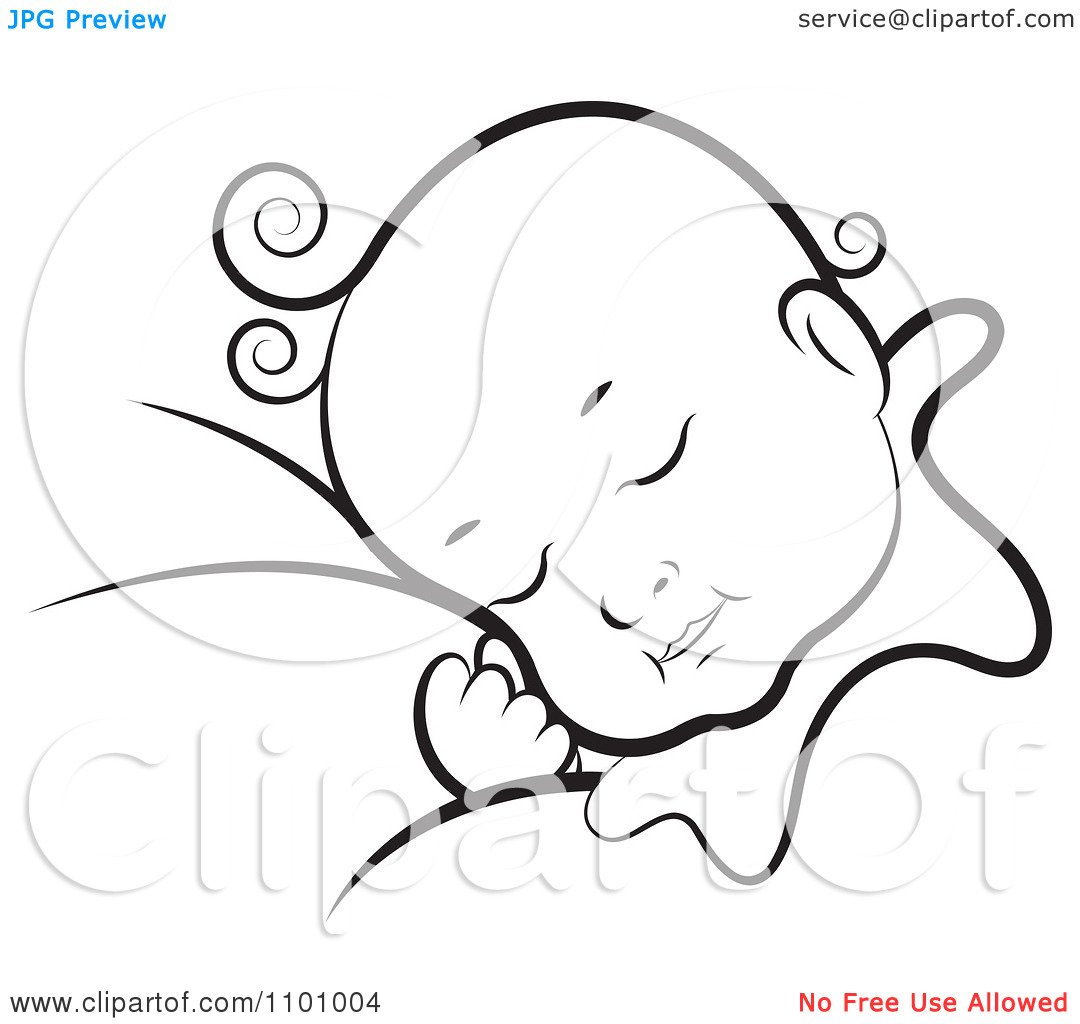 Baby Sleeping Clipart Black And White Clipground