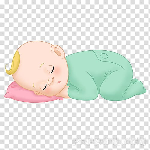 Mammal Figurine Cartoon, baby sleeping transparent.