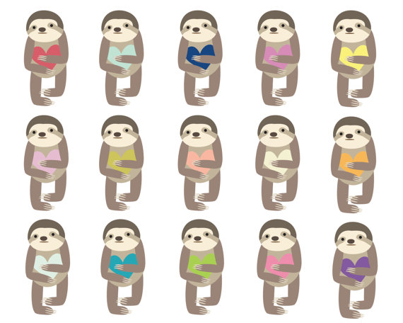 Baby Sloth Clipart.