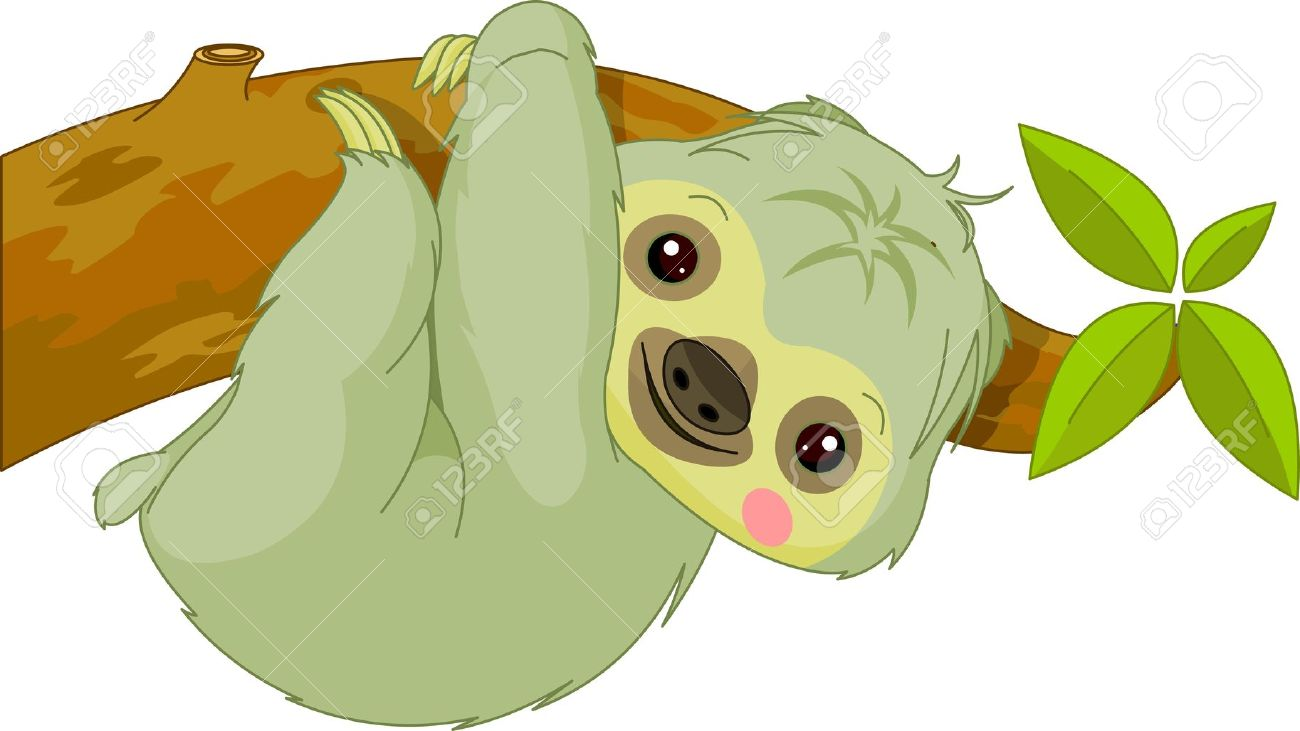 Sloth Clipart Cute.