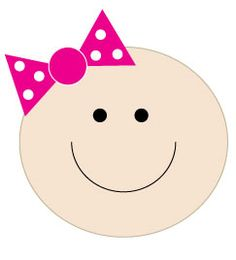 Baby smiley face clip art.