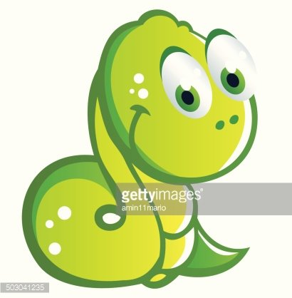 baby snake cartoon Clipart Image.