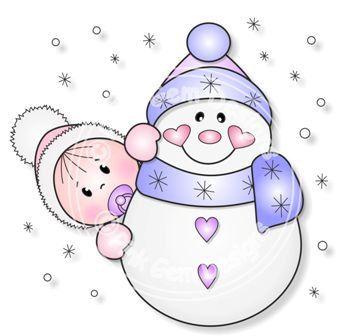 Baby Snowmen Cliparts.