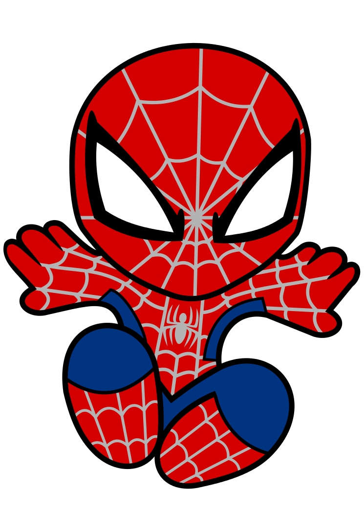 Spiderman Baby Clipart.
