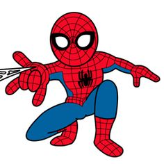 Baby Spiderman Clipart.