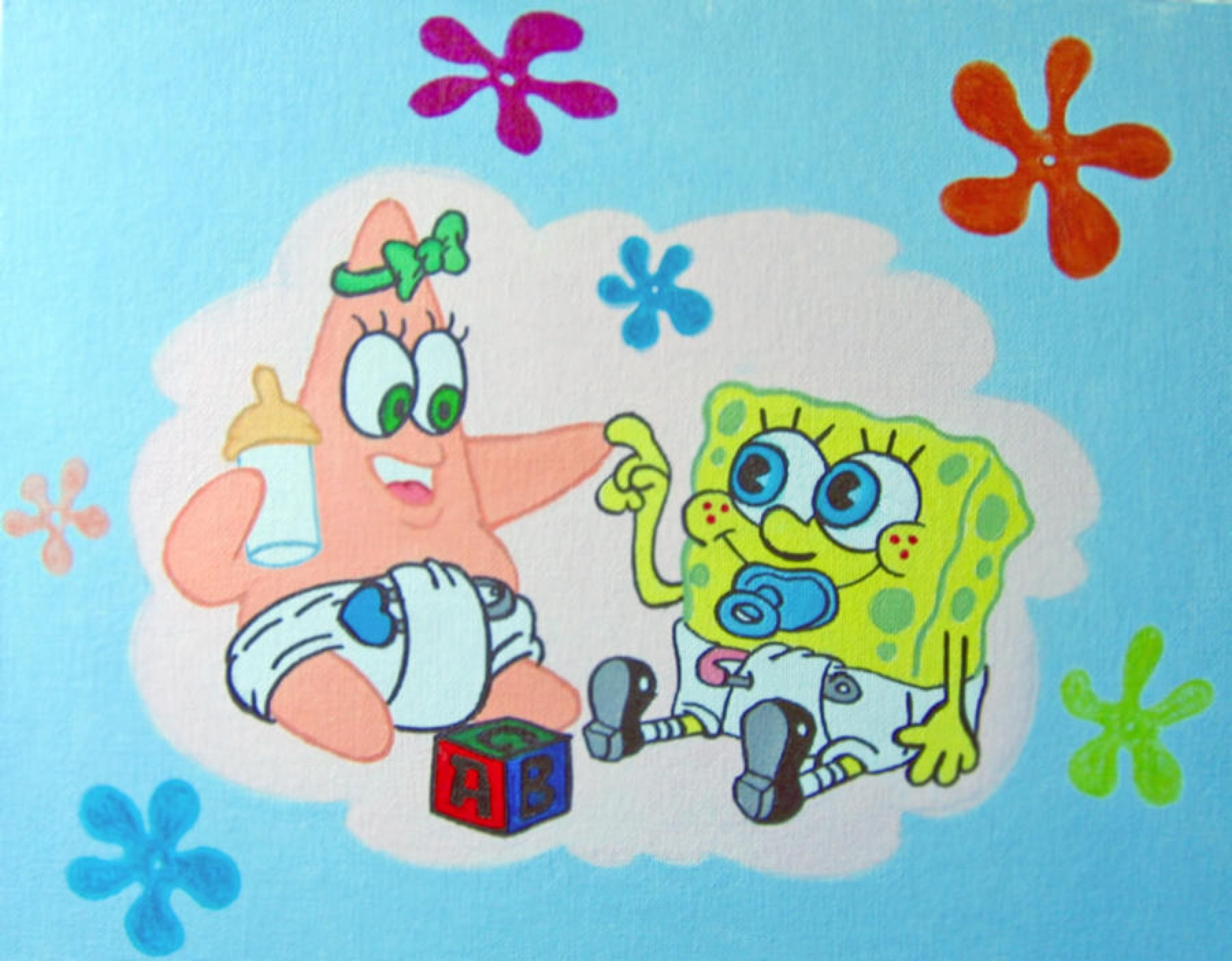 Baby Spongebob and Patrick by linus108Nicole on @DeviantArt.