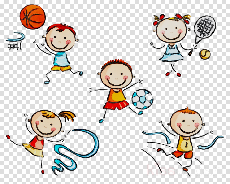 Playing People clipart.
