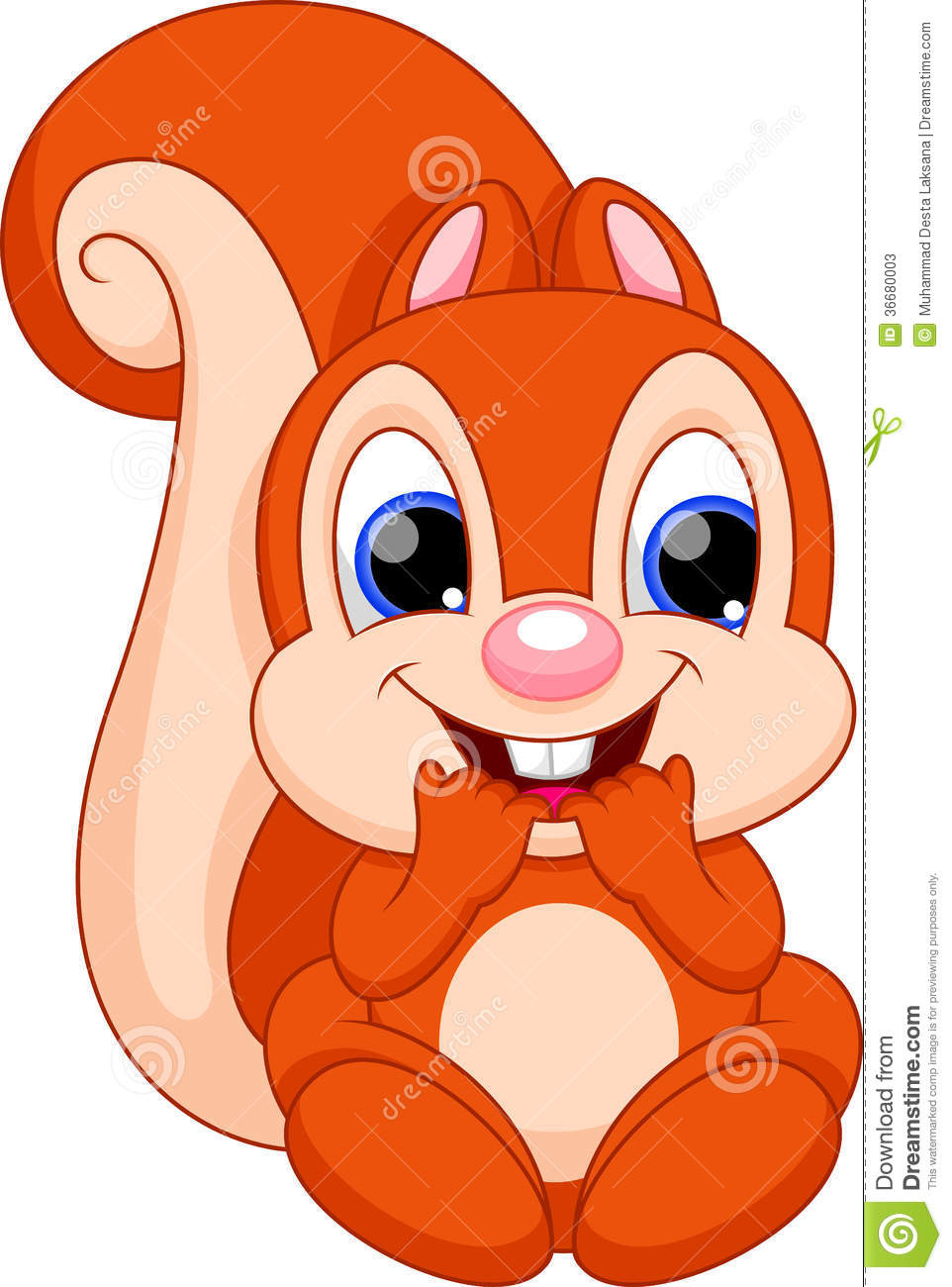 Cute baby squirrel cartoon stock illustration. Illustration of cute.