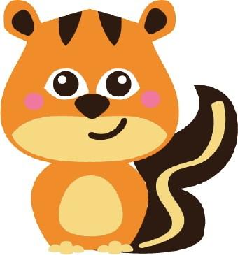 Cute baby squirrel clipart » Clipart Portal.