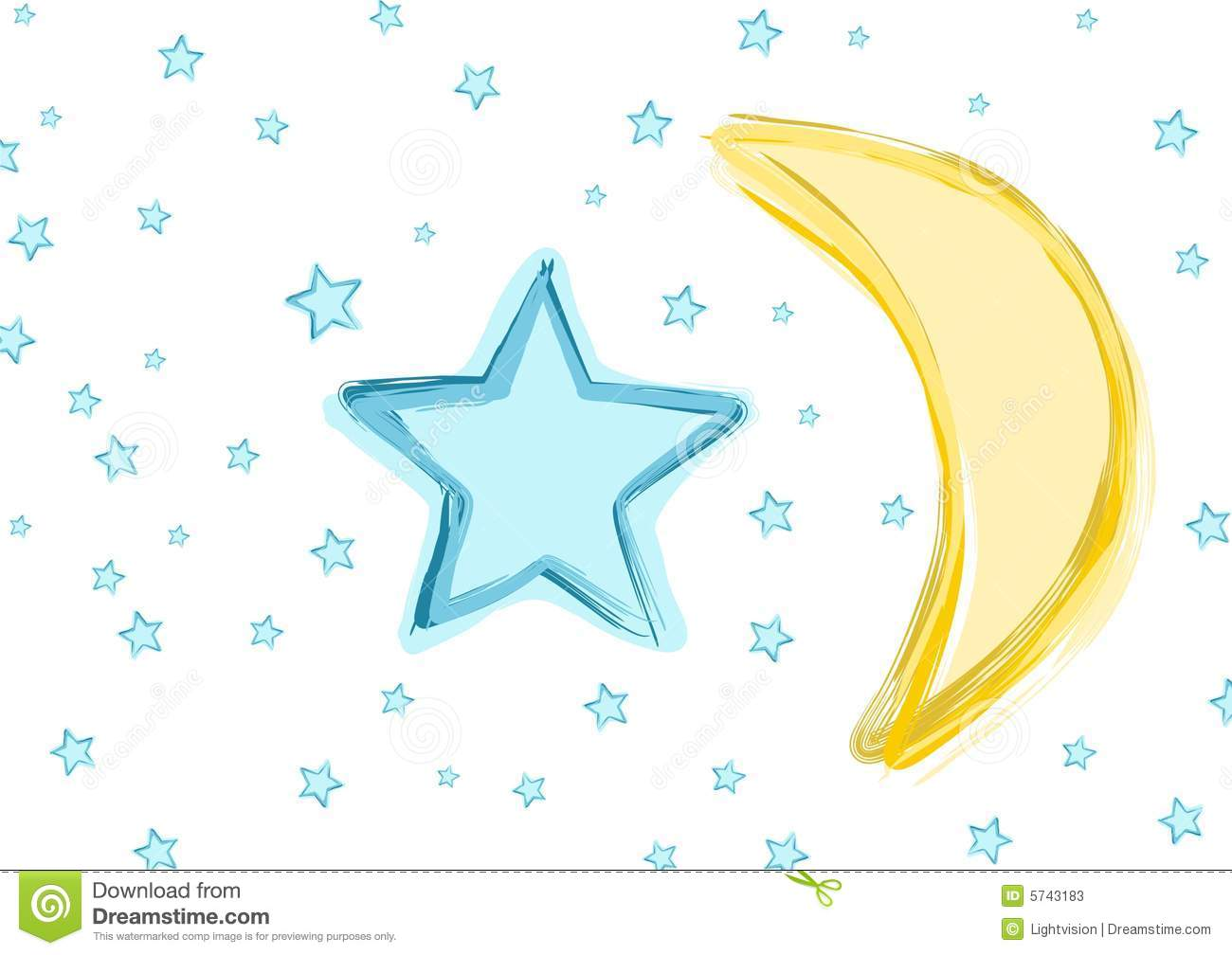 Baby Moon and stars stock vector. Illustration of star.