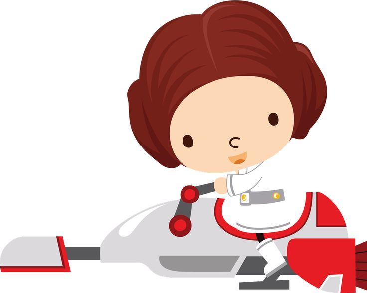 Cute baby star wars characters clipart.