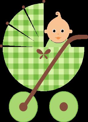 Baby Stroller Clip Art.