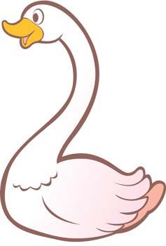 Swan Clip Art, Vector Swan.