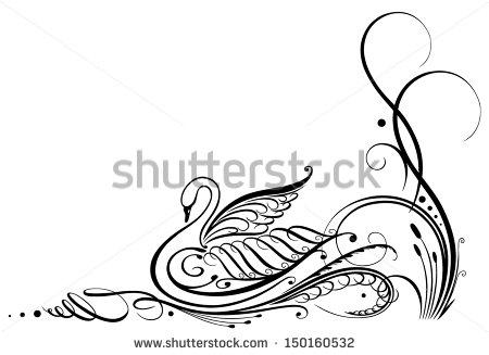baby swan drawings.