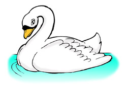 Baby swan clipart.