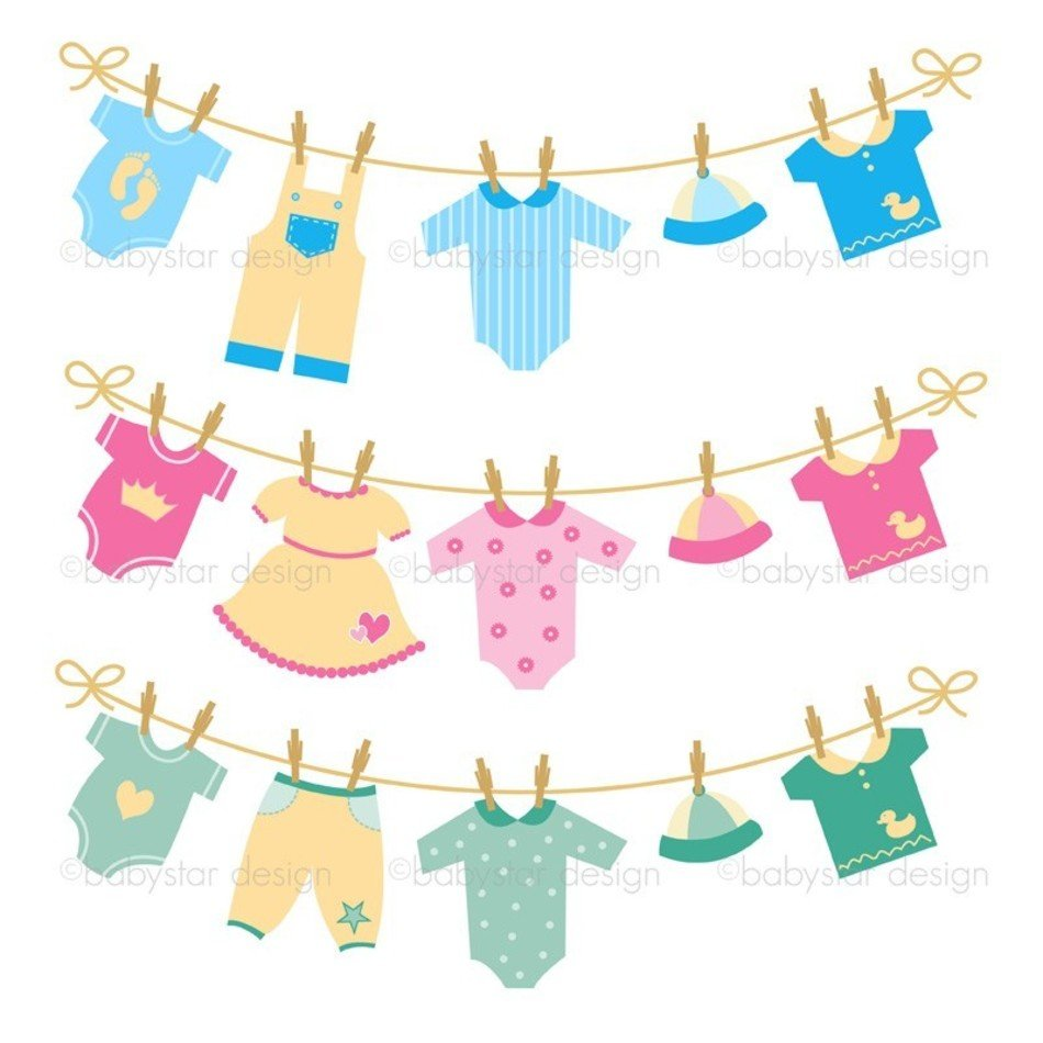 Baby Clothes Clip Art N19 free image.