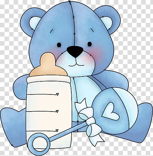 Teddy bear Baby blue , bear transparent background PNG.