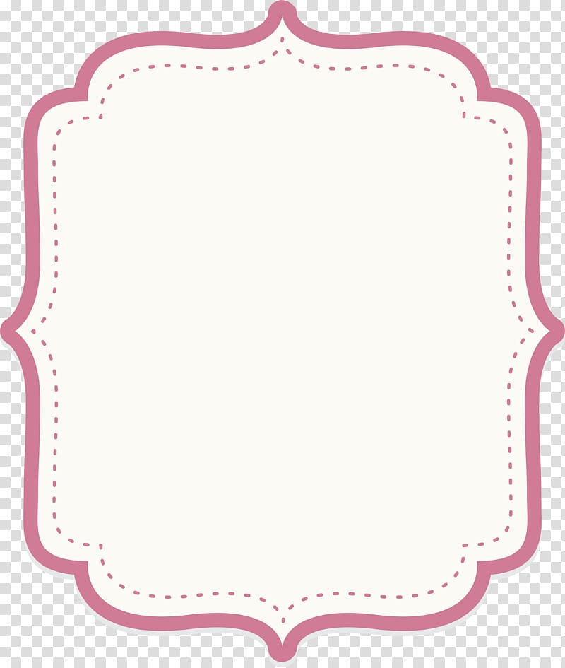 Icon, Cute baby powder text border, white background.