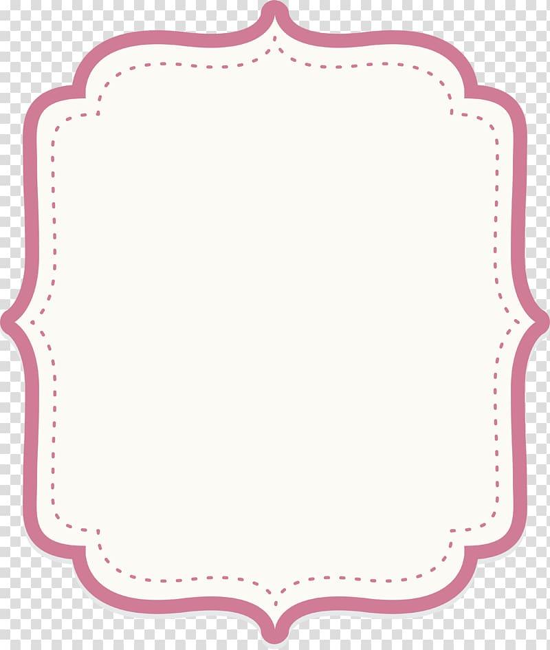 Icon, Cute baby powder text border, white background.