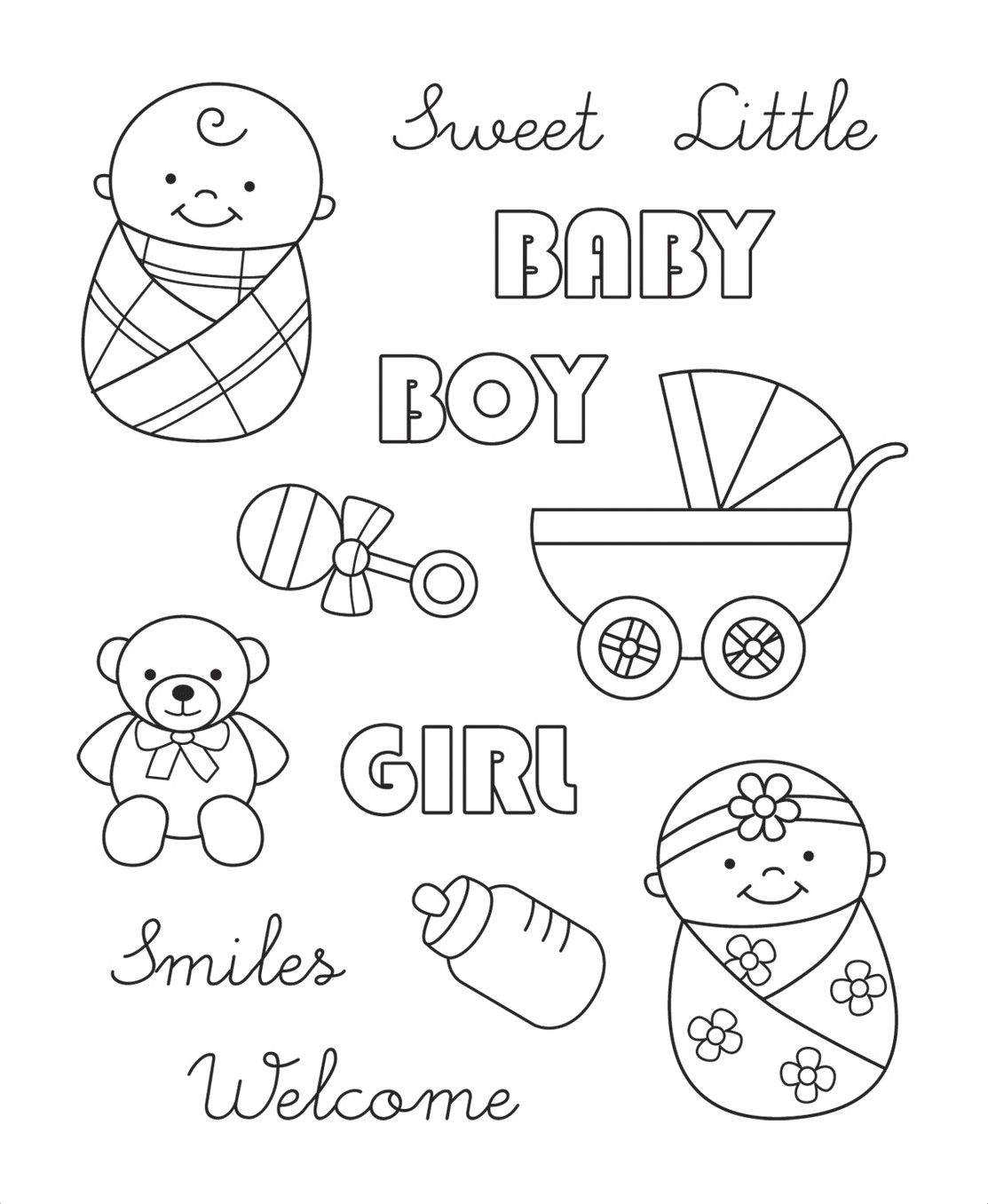 baby themed stamps.