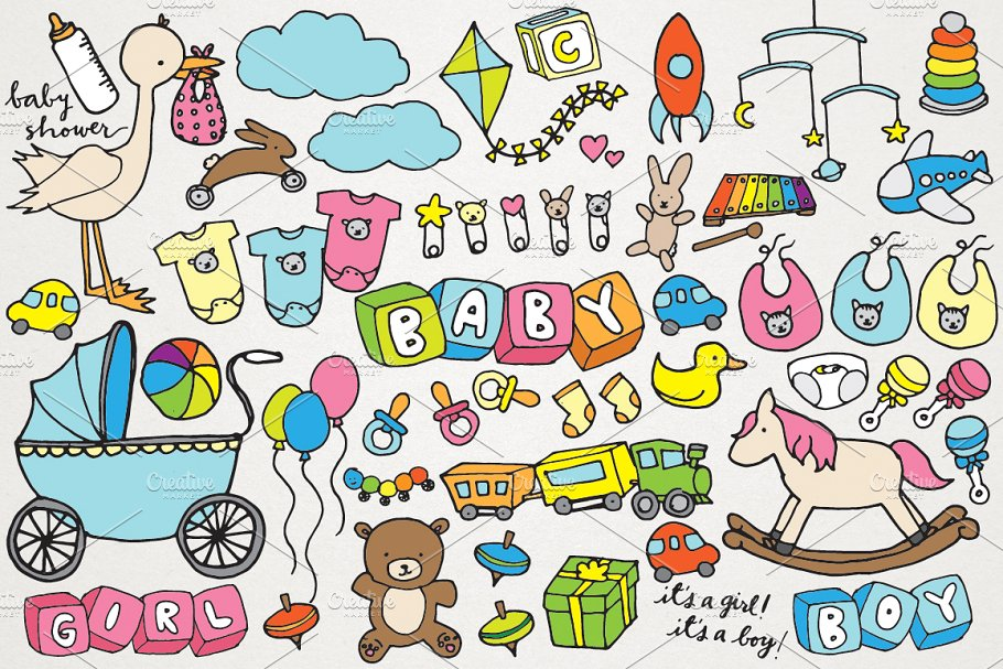 Baby & Baby Shower Clipart.