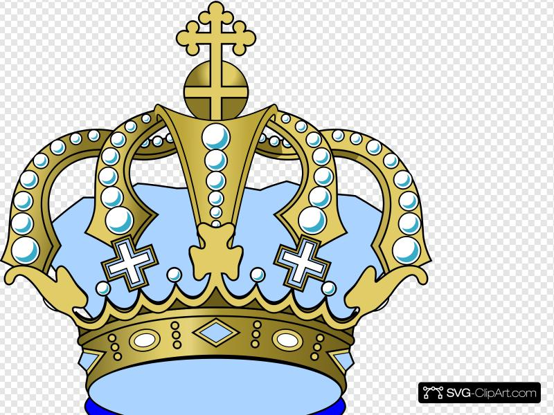 Baby Blue Crown Clip art, Icon and SVG.