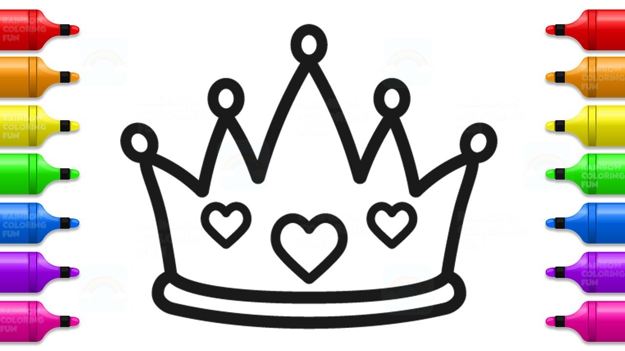 How to Draw Baby Princess Crown.