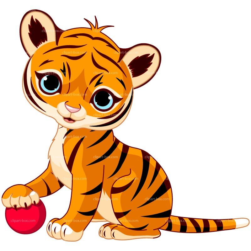 CLIPART BABY TIGER PLAYING.