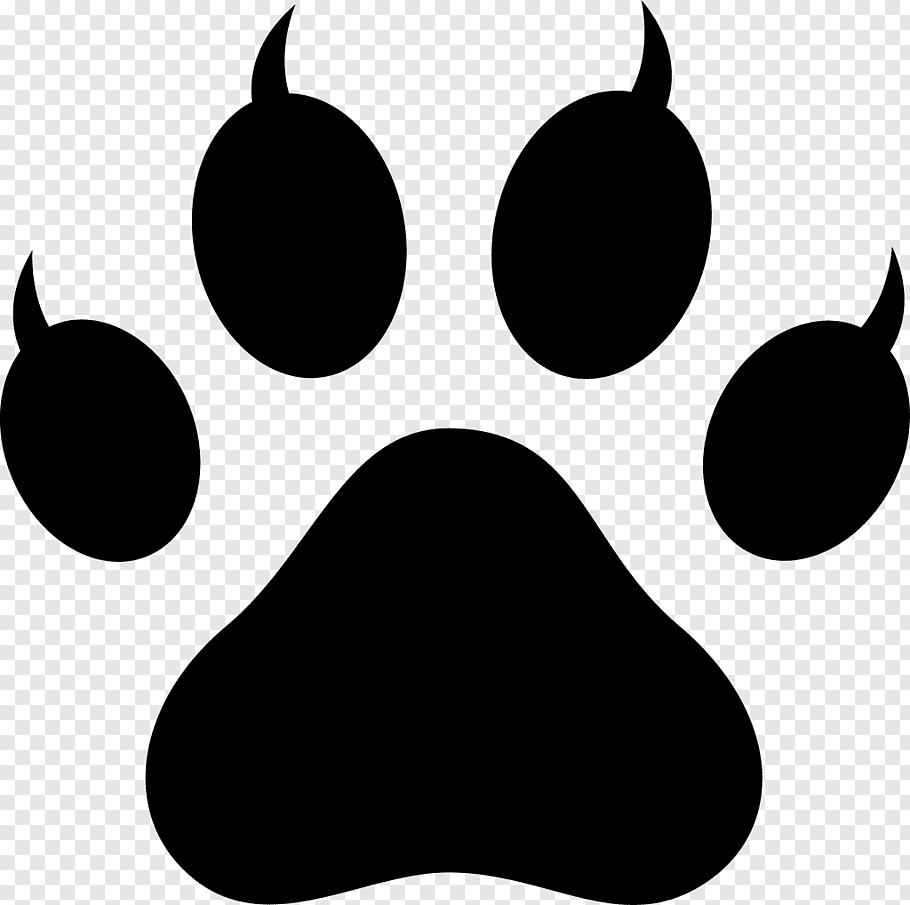 Polydactyl cat Paw Footprint, Lion Paw Print free png.