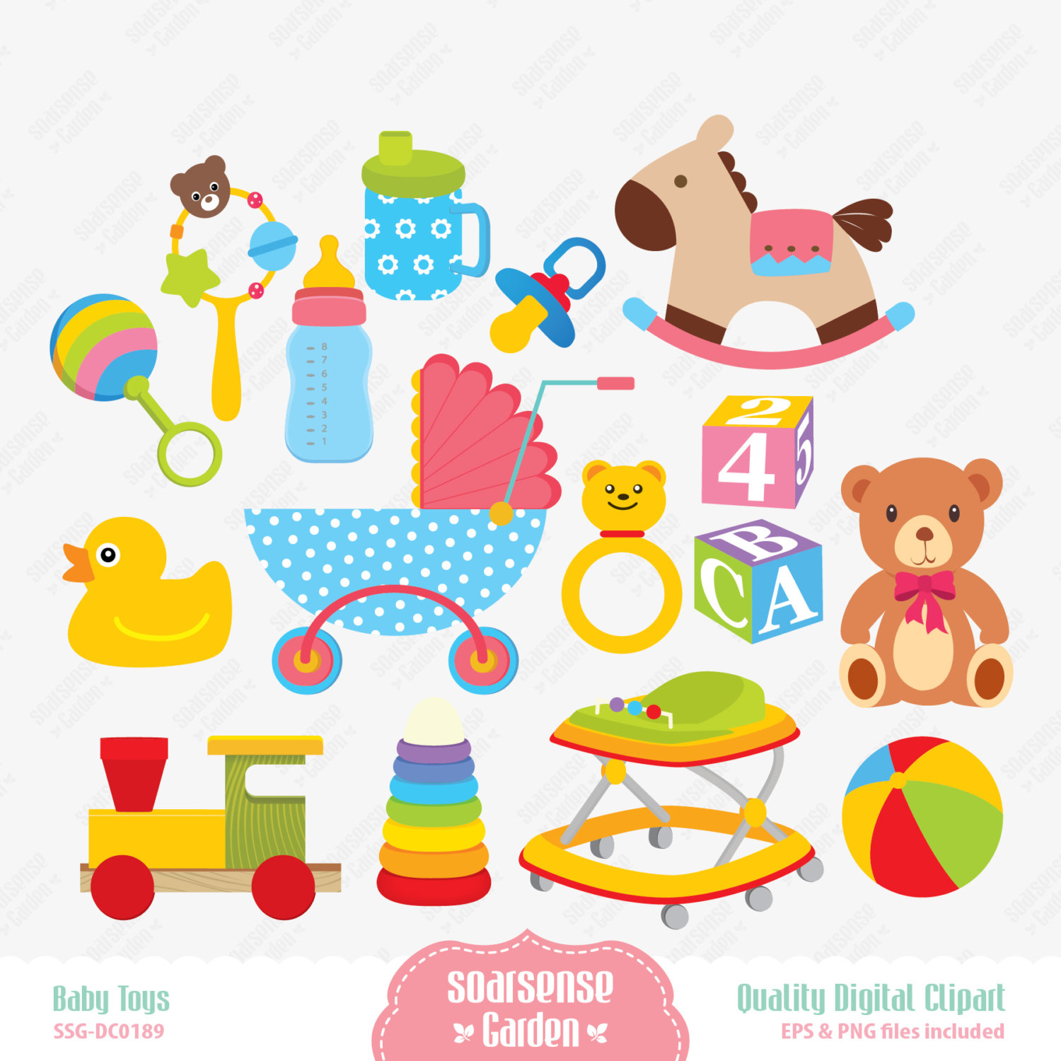 59+ Baby Toy Clipart.