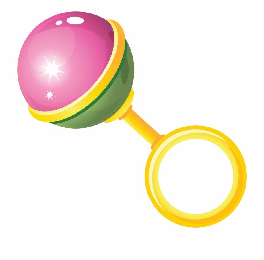 Toy Baby Rattle Clip Art.