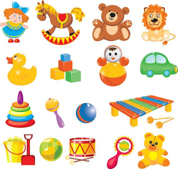 Cartoon Baby Toys Clip Art digital clip art by BrunoStore.