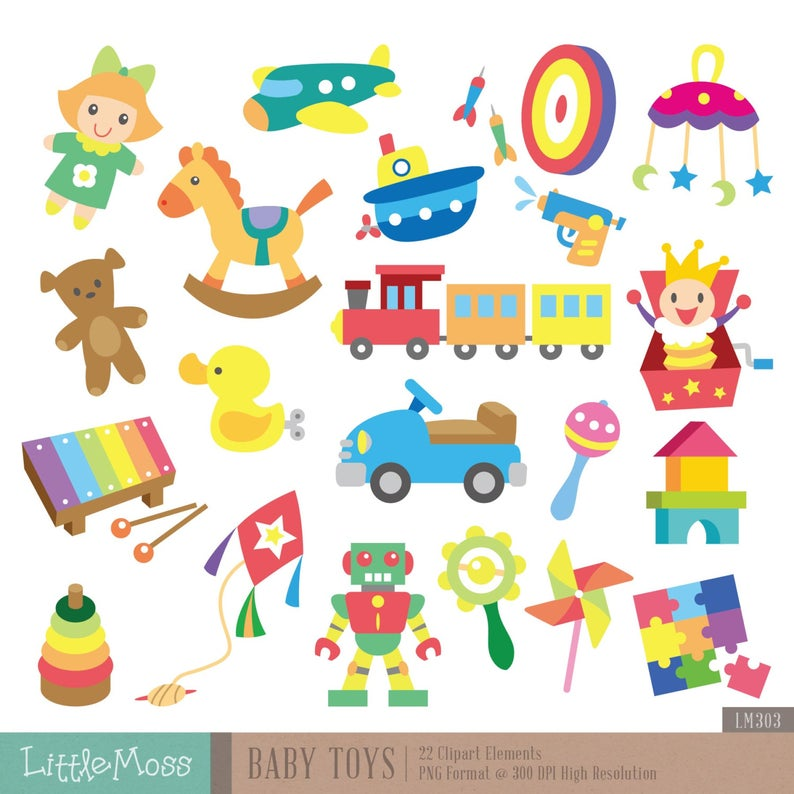 Baby Toys Digital Clipart.