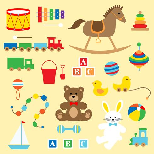 classic baby toys clipart.