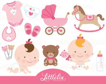Baby girl toys clipart.