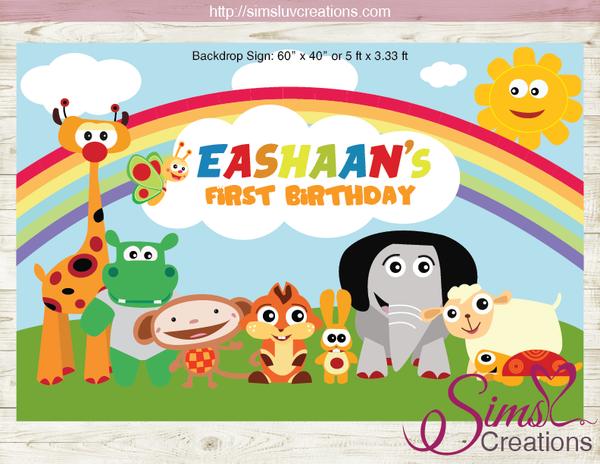 Baby tv printable backdrop banner.