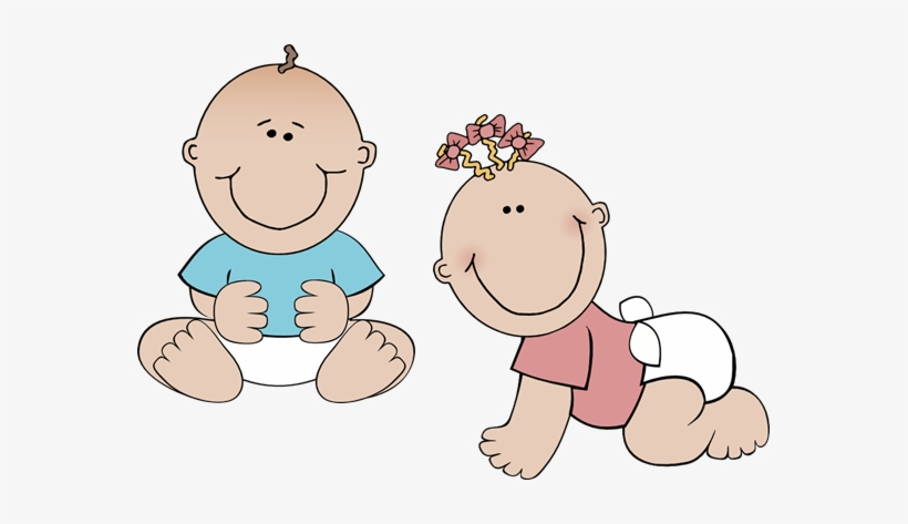 Royalty Free Stock Twin Baby Clipart.