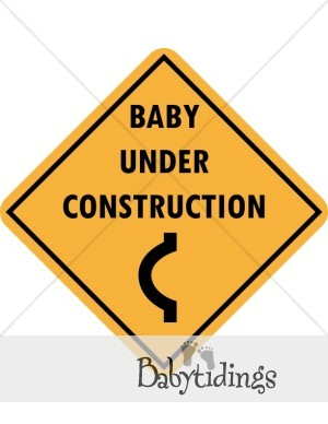 Baby Under Construction Clipart.