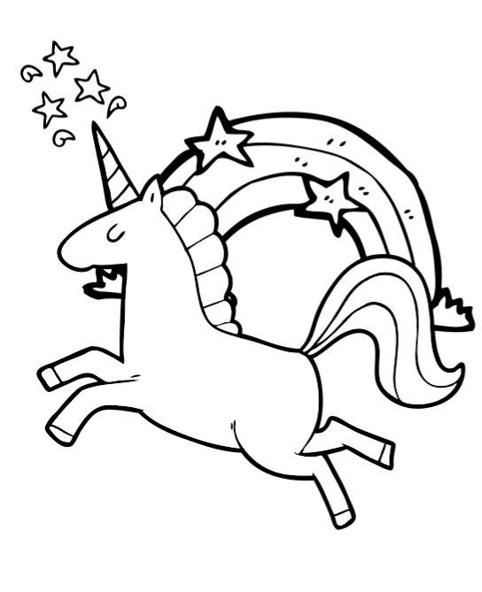 Free Unicorn Coloring Book Pages: So cute!.
