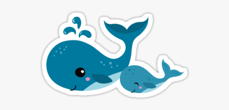Blue Whale Clipart Mommy Baby.