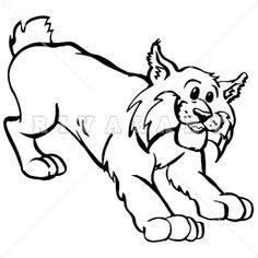 Wildcat Mascot Clipart.