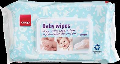 Coop Baby Wipes.